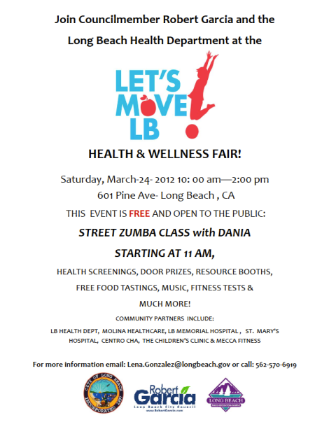 HEALTH & WELLNESS FAIR!  Saturday March 24th.